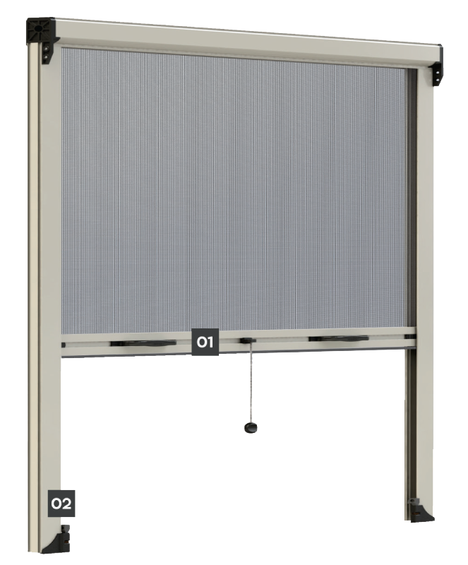 VERTICAL MOVEMENT SCREEN WITH STOPPER